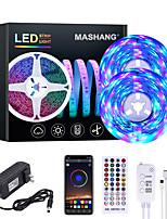 cheap -MASHANG 32.8ft 10M RGB LED Strip Lights Music Sync Smart LED Lights Tiktok Lights 600LEDs SMD 2835 Color Changing with 40 keys Remote Bluetooth Controller for Home Bedroom TV Back Lights DIY Deco