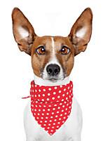 cheap -Dog Cat Bandanas & Hats Dog Bandana Dog Bibs Scarf Polka Dot Casual / Sporty Cute Dailywear Sports Dog Clothes Adjustable Yellow Red Blue Costume Cotton