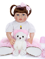 cheap -KEIUMI 22 inch Reborn Doll Baby & Toddler Toy Reborn Toddler Doll Baby Girl Gift Cute Lovely Parent-Child Interaction Tipped and Sealed Nails Full Body Silicone 23D29-C177-T19 with Clothes and