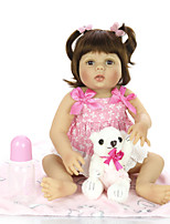 cheap -KEIUMI 22 inch Reborn Doll Baby & Toddler Toy Reborn Toddler Doll Baby Girl Gift Cute Washable Lovely Parent-Child Interaction Full Body Silicone 23D29-C306-H43-T19 with Clothes and Accessories for