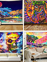 cheap -Unique Mandela Wall hanging Tapestry psychedelic pattern yoga throw beach throw carpet Hippie Home Decor Wall Tapestry Blanket