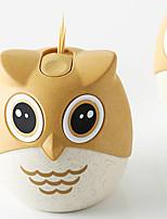 cheap -Owl Slide Toothpick Tube Portable Bucket Home Living Room Creative Plastic Box