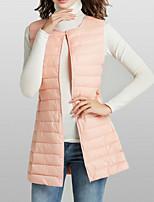 cheap -Women's Vest Solid Colored Polyester Black / Blushing Pink / Khaki M / L / XL