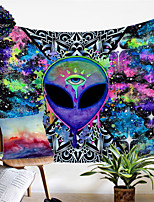 cheap -Trippy Alien By Brizbazaar Tapestry Hippie Wall Carpet Room Trippy Tapestry Wall Hanging Watercolor Witchcraft Tapiz