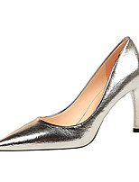 cheap -Women's Heels Fall / Winter Stiletto Heel Pointed Toe Vintage Sexy Party & Evening Solid Colored PU Black / Blue / Light Grey
