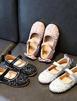 cheap -Girls' Flats Flower Girl Shoes Synthetics Little Kids(4-7ys) Black / Pink / Silver Summer / Fall / Rubber