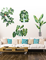 cheap -Green Leaf Wall Stickers Decorative Wall Stickers, PVC Home Decoration Wall Decal Wall Decoration / Removable