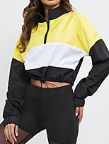 cheap -Women's Hoodie Hoodies Pullover Cropped Hoodie Hoody Crop Top Drawstring Pullover Spandex Cotton Color Block Cute Sport Athleisure Hoodie Long Sleeve Lightweight Soft Running Everyday Use Daily Casual