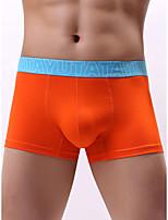 cheap -Men's Basic Boxers Underwear - Normal Low Waist White Black Red S M L