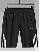 "cheap -Men's Hiking Shorts Stripes Summer Outdoor 10"" Breathable Quick Dry Sweat-wicking Comfortable Shorts Bottoms Black Camping / Hiking Hunting Fishing L XL XXL XXXL 4XL / Wear Resistance"