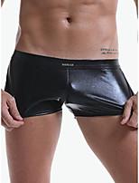 cheap -Men's Basic Boxers Underwear - Normal Low Waist Black Blue Purple S M L