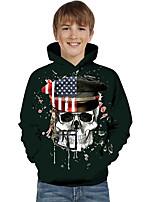 cheap -Kids Toddler Boys' Active Basic Geometric Color Block Print Long Sleeve Hoodie & Sweatshirt Black