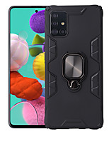 cheap -Case For Samsung Galaxy Galaxy A10(2019) / Galaxy A30(2019) / Galaxy A50(2019) Shockproof / Ring Holder Back Cover Solid Colored TPU / PC