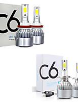 cheap -4pcs Car Led Headlight Bulbs Lamp H4 H7 H11 H8 HB4 H1 H3 HB3 Auto Car High Low Beam 6500K 12-24V Head Light Visture C6
