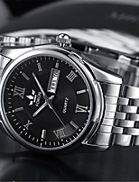 cheap -Men's Mechanical Watch Automatic self-winding Modern Style Stylish Classic Water Resistant / Waterproof Stainless Steel Analog - Black / Silver White+Silver / Noctilucent