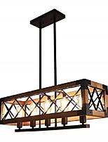 cheap -QIHengZhaoMing 5-Light 80 cm Island Design Pendant Light Wood / Bamboo Wood / Bamboo Painted Finishes Vintage 110-120V 220-240V