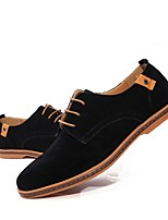 cheap -Men's Summer Daily Oxfords Suede Black / Blue / Green