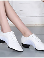 cheap -Women's Dance Shoes Latin Shoes Heel Cuban Heel White / Black / Red / Performance / Leather