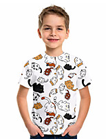 cheap -Kids Boys' Basic Animal Short Sleeve Tee White