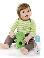 cheap -KEIUMI 22 inch Reborn Doll Baby & Toddler Toy Reborn Toddler Doll Baby Boy Gift Cute Washable Lovely Parent-Child Interaction Full Body Silicone 23D64-C231-T25 with Clothes and Accessories for Girls