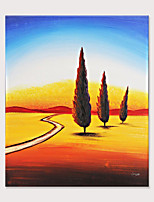 cheap -Canvas Wall Art Desert Oasis Scenery Oil Painting Forest Landscape Nature Artwork Modern No Framed  for Home Office Living Room Bedroom Bathroom Wall Decorations Rolled Without Frame