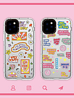 cheap -Case For Apple iPhone 7 iPhone 7P iPhone 8 iPhone 8P iPhone X iPhone iPhone XS iPhone XR iPhone XS max iPhone 11 iPhone 11 Pro iPhone 11 Pro Max Translucent Pattern Back Cover Word Phrase TPU