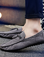 cheap -Men's Fall Daily Loafers & Slip-Ons Suede Black / Gray / Tassel