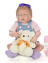 cheap -KEIUMI 22 inch Reborn Doll Baby & Toddler Toy Reborn Toddler Doll Baby Girl Gift Cute Lovely Parent-Child Interaction Tipped and Sealed Nails Full Body Silicone 23D35-C80-T13 with Clothes and