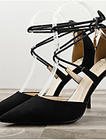 cheap -Women's Heels / Sandals Summer Stiletto Heel Pointed Toe Daily PU Nude / Black / Red