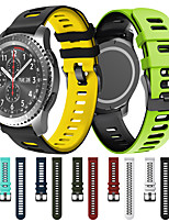 cheap -Sport Silicone Wrist Strap Watch Band for Samsung Galaxy Watch 46mm / Gear S3 Classic / Gear S3 Frontier / Gear 2 R380 / Neo R381 / Live R382 Replaceable Bracelet Wristband