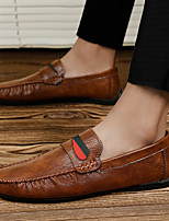 cheap -Men's Summer / Fall Business / Vintage / British Office & Career Loafers & Slip-Ons Nappa Leather Breathable Non-slipping Wear Proof Black / Brown / Gray