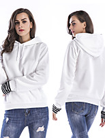 cheap -Women's Fleece Hoodie Sweatshirt Long Sleeve Minimalist Sport Athleisure Hoodie Breathable Warm Soft Comfortable Everyday Use Exercising General Use
