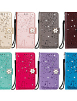 cheap -Case For Sony Xperia XA1 XA2 XZ XZ1 Z5 Card Holder Flip Pattern Full Body Cases cat sakura flower animal diamonds PU Leather TPU