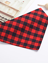 cheap -Dog Cat Bandanas & Hats Dog Bandana Dog Bibs Scarf Plaid / Check Casual / Sporty Cute Party Sports Dog Clothes Adjustable Black Red Blue Costume Cotton S M