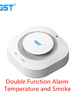 cheap -Pgst 433mhz Wireless Smoke Alarm Fire Detector Sensitive Home Safety Alarm Sensor Smoke Detector Smoke Room Fire Fighting Equipment