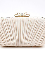 cheap -Women's Bags Satin Evening Bag Crystals for Event / Party Black / Champagne / Dark Blue / Wedding Bags