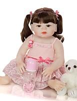 cheap -KEIUMI 22 inch Reborn Doll Baby & Toddler Toy Reborn Toddler Doll Baby Girl Gift Cute Washable Lovely Parent-Child Interaction Full Body Silicone 23D88-C328-H43-T19 with Clothes and Accessories for