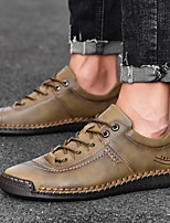 cheap -Men's Summer / Fall Business / Casual / Vintage Daily Office & Career Oxfords Nappa Leather Breathable Wear Proof Black / Khaki / Brown