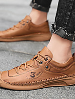cheap -Men's Summer / Fall Business / Vintage / British Office & Career Oxfords Nappa Leather Breathable Wear Proof Black / Brown / Beige