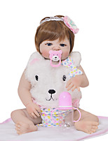 cheap -KEIUMI 22 inch Reborn Doll Baby & Toddler Toy Reborn Toddler Doll Baby Girl Gift Cute Washable Lovely Parent-Child Interaction Full Body Silicone 23D03-C128-H31 with Clothes and Accessories for