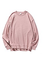 cheap -Women's Fleece Sweatshirt Long Sleeve Minimalist Sport Athleisure Pullover Breathable Soft Comfortable Everyday Use Exercising General Use