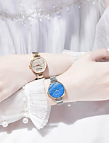 cheap -DOM Women's Quartz Watches Quartz Modern Style Stylish Casual Water Resistant / Waterproof Stainless Steel Analog - Blue Gold