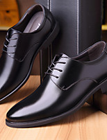 cheap -Men's Summer / Fall Business / British Daily Office & Career Oxfords Faux Leather Breathable Wear Proof Black / Brown