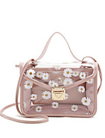 cheap -Women's PU Leather Crossbody Bag Laser Jelly Bags Floral Print Black / Red / Blushing Pink