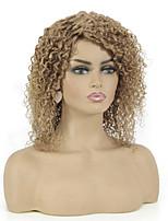 cheap -Remy Human Hair Wig Short Jerry Curl Pixie Cut Auburn Fashionable Design Capless Brazilian Hair Women's Medium Auburn#30 12 inch