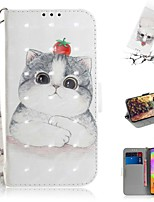 cheap -Case For Samsung Galaxy S20 Galaxy S20 Plus Galaxy S20 Ultra Wallet Card Holder with Stand Full Body Cases Cute Cat PU Leather TPU for Galaxy A51 A71 A70E A81 A91 A11 A31 A41 A21
