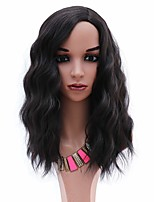 cheap -Synthetic Wig Curly Weave Side Part Wig Medium Length Black Synthetic Hair 14 inch Women's Party New Arrival Fashion Black