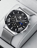 cheap -Men's Sport Watch Quartz Modern Style Stylish Classic Calendar / date / day Black / Silver / Gold Analog - White Black Blue / Chronograph / Large Dial