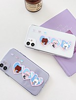 cheap -Apple Case For iPhone7 8 7plus 8plus  XR XS XSMAX  X SE 11 11Pro 11ProMax Back Cover Word Phrase Transparent Cartoon TPU
