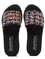 cheap -Women's Slippers & Flip-Flops Summer Flat Heel Open Toe Daily Nylon Black / Beige